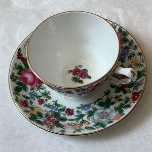 4 oz English China Tea Cup and Saucer
